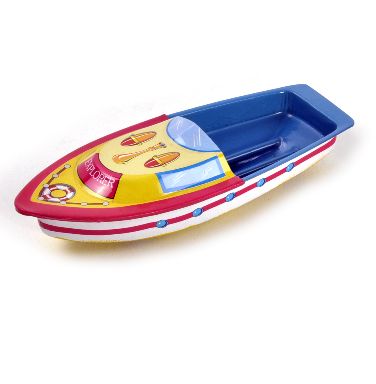 Pop Pop Boat Classic Candle Powered Speed Boat Tin Toy
