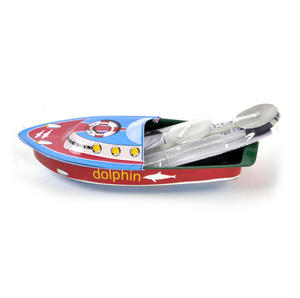 Pop Pop Boat  - Classic Candle Powered Speed Boat Tin Toy - Random Designs Thumbnail 1