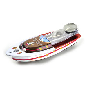 Pop Pop Boat  - Classic Candle Powered Speed Boat Tin Toy - Random Designs Thumbnail 3