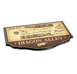 Diagon Alley Map Sign - Harry Potter Replica by Noble Collection Thumbnail 2