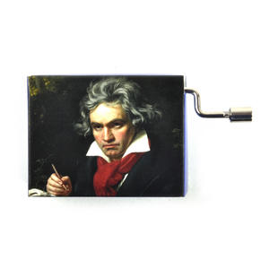 "Beethoven Portrait ""Für Elise"" / ""For Elise""  Handcrank Music Box Thumbnail 1"