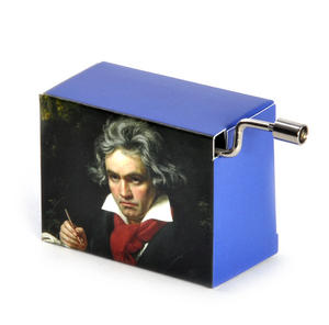 "Beethoven Portrait ""Für Elise"" / ""For Elise""  Handcrank Music Box Thumbnail 2"