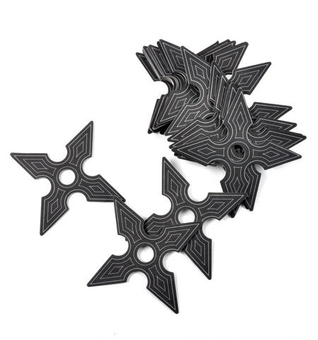 Ninja Coasters - 25 Ninja Star Card Coasters