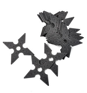 Ninja Coasters - 25 Ninja Star Card Coasters Thumbnail 1