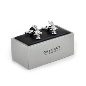 Cufflinks - Magician's Top Hat & Rabbit Thumbnail 1
