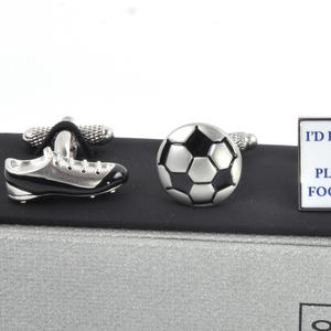 Three Pair Cufflinks Set - Football - Perfect Gift for a Footballer Thumbnail 4