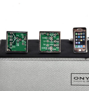 Three Pair Cufflinks Set - Tech - Perfect Gift for a Techie Thumbnail 2