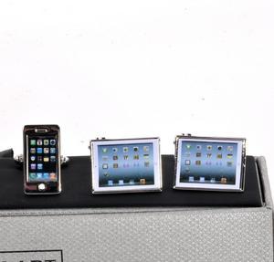 Three Pair Cufflinks Set - Tech - Perfect Gift for a Techie Thumbnail 3
