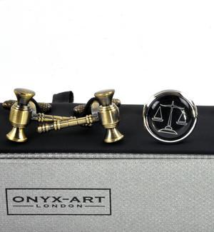 Three Pair Cufflinks Set - Judge Thumbnail 5
