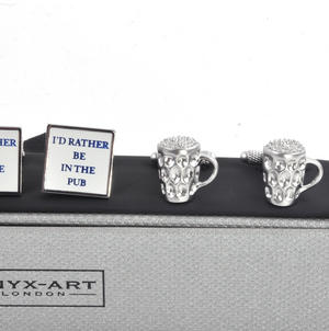 Three Pair Cufflinks Set - In the Pub - Perfect Gift for a Barman or Landlord Thumbnail 3