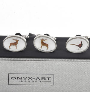 Three Pair Cufflinks Set - Hunting - Perfect Gift for a Hunter Thumbnail 3