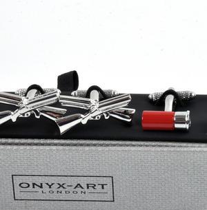 Three Pair Cufflinks Set - Shooting - Perfect Gift for a Hunter Thumbnail 3