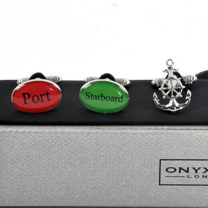 Three Pair Cufflinks Set - Royal Navy- Perfect Gift for a Sailor Thumbnail 4
