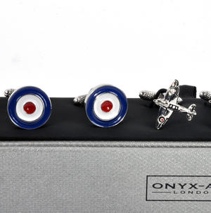 Three Pair Cufflinks Set - Royal Air Force (RAF)- Perfect Gift for a Pilot Thumbnail 2