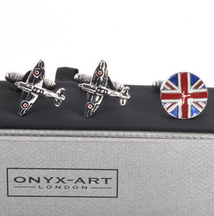 Three Pair Cufflinks Set - Royal Air Force (RAF)- Perfect Gift for a Pilot Thumbnail 3
