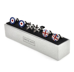 Three Pair Cufflinks Set - Royal Air Force (RAF)- Perfect Gift for a Pilot Thumbnail 5