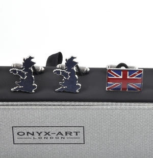 Three Pair Cufflinks Set - United Kingdom (UK) Thumbnail 5