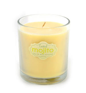 Cocktail Mojito Candle - Lime and Mint Scented Candle Thumbnail 1