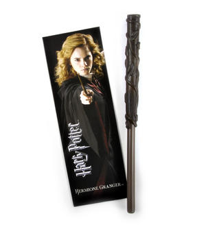 Hermione Grainger Pen Wand & Bookmark - Noble Collection Harry Potter Replica Thumbnail 1