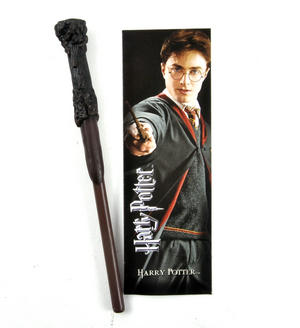 Harry Potter Pen Wand & Bookmark - Noble Collection Harry Potter Replica Thumbnail 1
