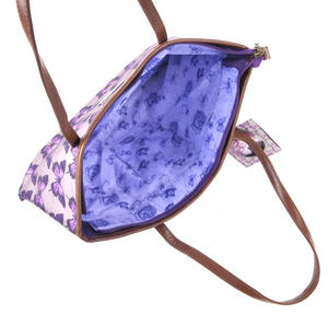 Amethyst Butterfly - Large Shopper Bag with Zipper By Mirabelle Thumbnail 3