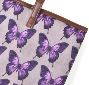 Amethyst Butterfly - Large Shopper Bag with Zipper By Mirabelle Thumbnail 6
