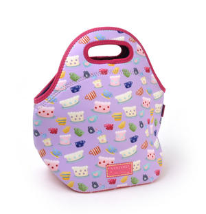 Tea Party - Neoprene Lunch Bag By Kori Kumi Thumbnail 3