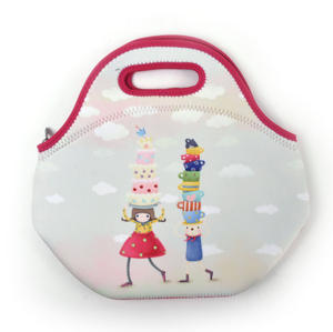 Tea Party - Neoprene Lunch Bag By Kori Kumi Thumbnail 4