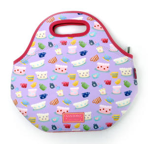 Tea Party - Neoprene Lunch Bag By Kori Kumi Thumbnail 5