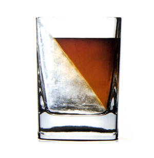 Corkcicle Whiskey Wedge Tumbler Glass - Stops Dilution of your Iced Whiskey. Thumbnail 1