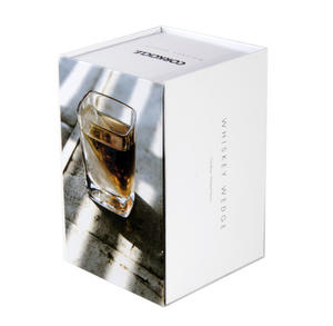 Corkcicle Whiskey Wedge Tumbler Glass - Stops Dilution of your Iced Whiskey. Thumbnail 2