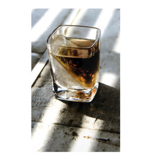 Corkcicle Whiskey Wedge Tumbler Glass - Stops Dilution of your Iced Whiskey. Thumbnail 3
