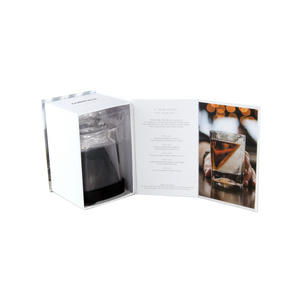 Corkcicle Whiskey Wedge Tumbler Glass - Stops Dilution of your Iced Whiskey. Thumbnail 4