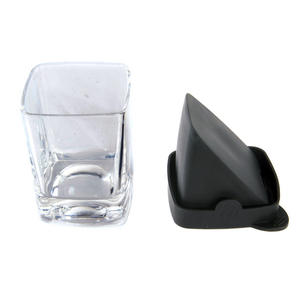 Corkcicle Whiskey Wedge Tumbler Glass - Stops Dilution of your Iced Whiskey. Thumbnail 6