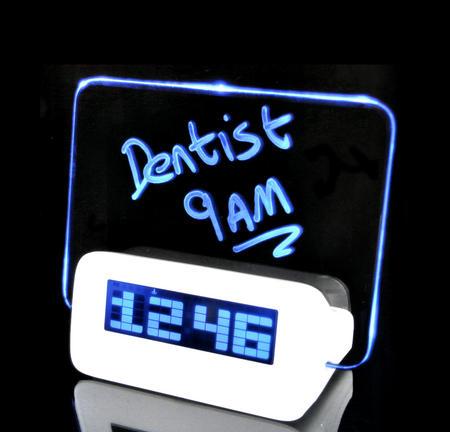 Scribble Clock - Midnight Memo LED Alarm Clock
