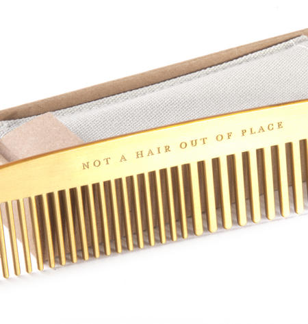 "Brass Plated Comb ""Not a Hair Out of Place"" Grooming Tool"