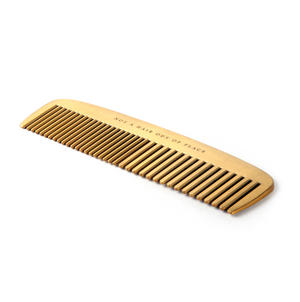 "Brass Plated Comb ""Not a Hair Out of Place"" Grooming Tool Thumbnail 2"
