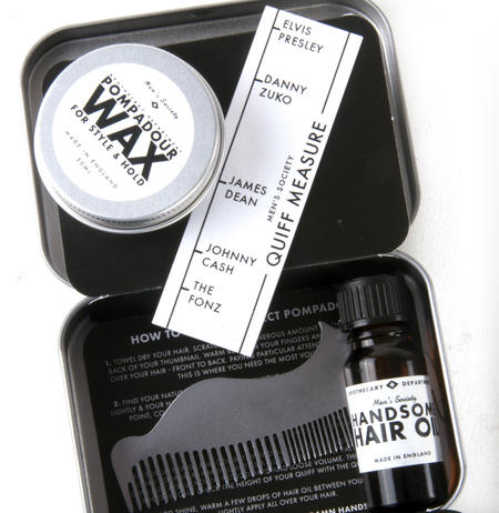 The Pompadour Hair Grooming Kit - Handmade Small Batch Production from The Men's Society Apothecary Department