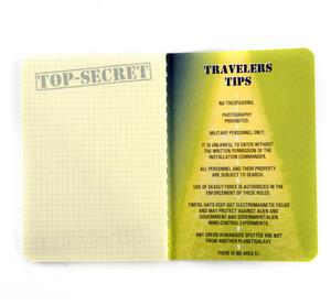Area 51 Passport - Top Secret Alien Pocket Notebook Thumbnail 5