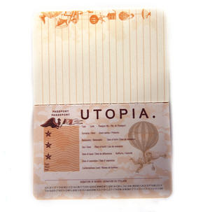 Utopia Passport - Perfect Pocket Notebook Thumbnail 3