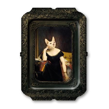 Victoire -Visconti - Galerie De Portraits - Surreal Wall Tray Art Masterwork by iBride