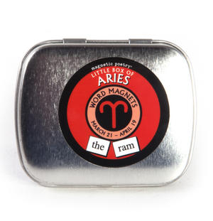 Little Box of Aries - Word Magnets - The Ram Fridge Magnet Poetry Set Thumbnail 2