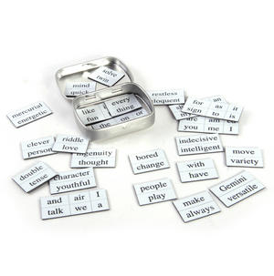 Little Box of Gemini - Word Magnets - The Twins Fridge Magnet Poetry Set Thumbnail 3