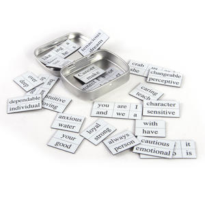 Little Box of Cancer - Word Magnets - The Crab Fridge Magnet Poetry Set Thumbnail 3