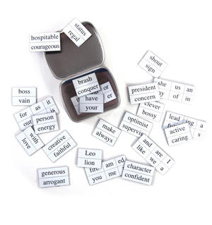 Little Box of Leo - Word Magnets - The Lion Fridge Magnet Poetry Set Thumbnail 4