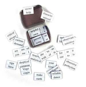 Little Box of Virgo - Word Magnets - The Virgin Fridge Magnet Poetry Set Thumbnail 4