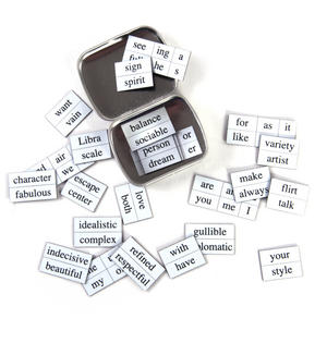 Little Box of Libra - Word Magnets - The Scales Fridge Magnet Poetry Set Thumbnail 4