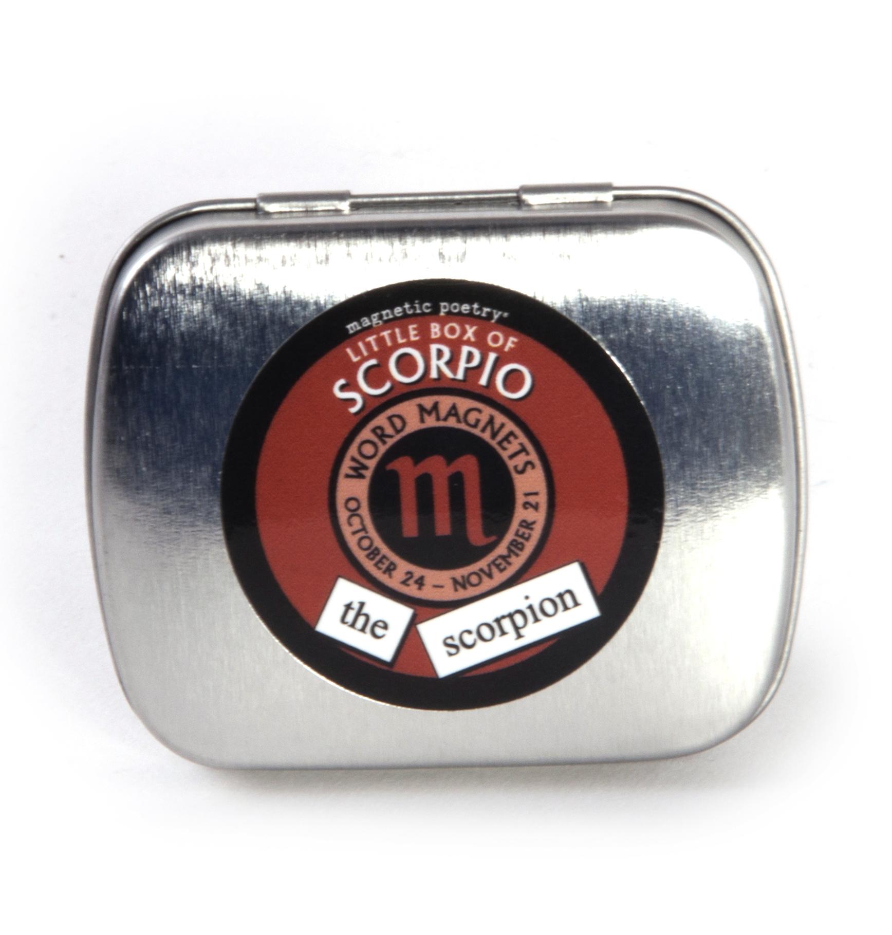 Little Box Of Scorpio Word Magnets The Scorpion Fridge