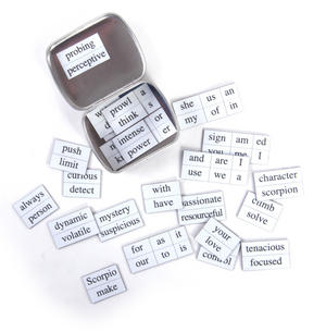 Little Box of Scorpio - Word Magnets - The Scorpion Fridge Magnet Poetry Set Thumbnail 4