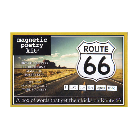 Route 66 - Fridge Magnet Set - Fridge Poetry